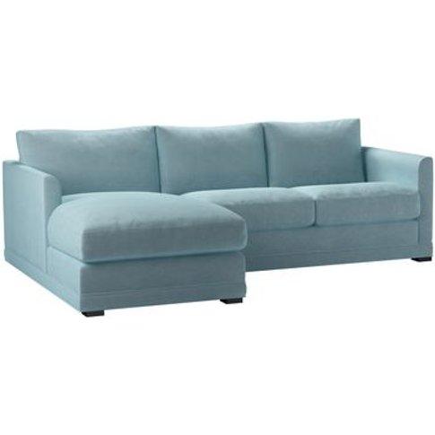 Aissa Small Lhf Chaise Storage Sofa In Powder Blue S...