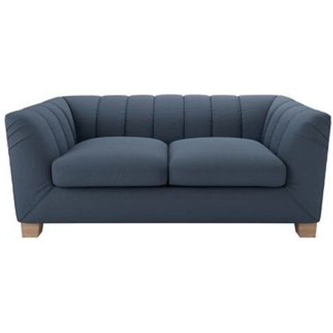 Albie 2 Seat Sofa In Midnight Blue Brushed Linen Cotton