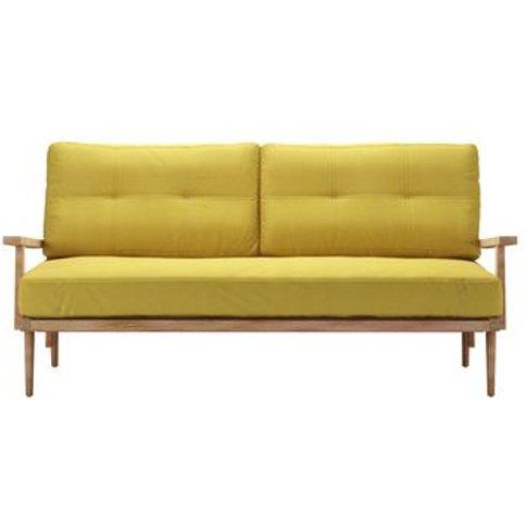 Hendrik 3 Seat Sofa In Lemon Drop Pick 'N' Mix Cotton