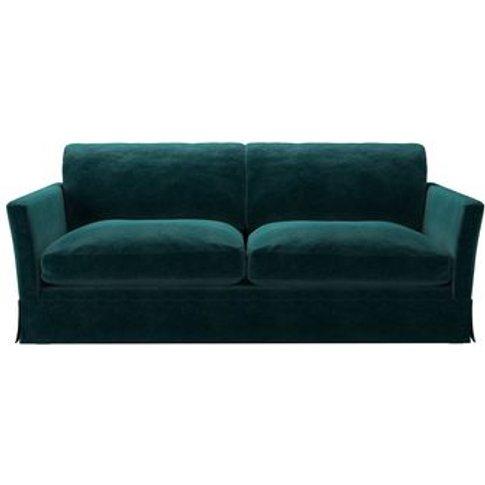 Otto 3 Seat Sofa Bed In Jade Smart Velvet