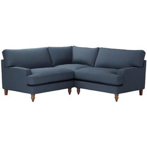 Isla Small Corner Sofa In Midnight Blue Brushed Line...