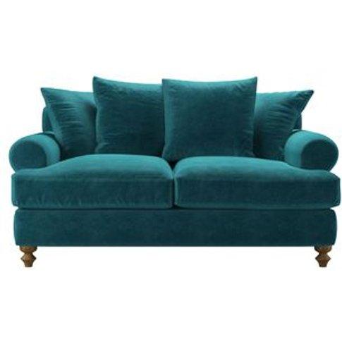 Teddy 2 Seat Sofa Bed In Neptune Smart Velvet