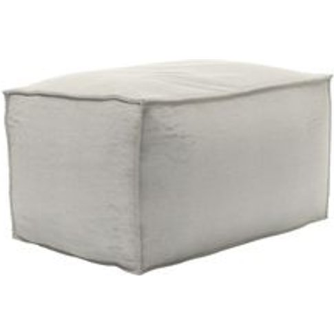 Isaac Small Rectangular Footstool In Clay House Bask...
