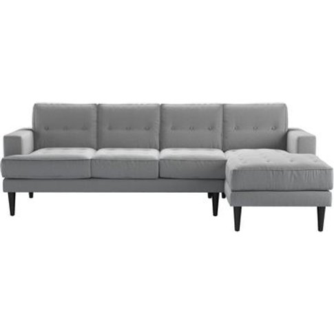 Mabel Large Rhf Chaise Sofa In Pumice House Plain Weave