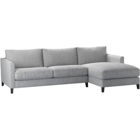 Izzy Medium Rhf Chaise Sofa In Goodwin Grey Sandgate