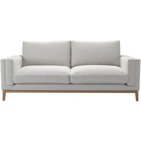 Costello (Plinth) 3 Seat Sofa In Alabaster Brushed L...