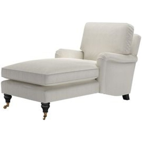 Bluebell Chaise Armchair In Clay House Herringbone W...