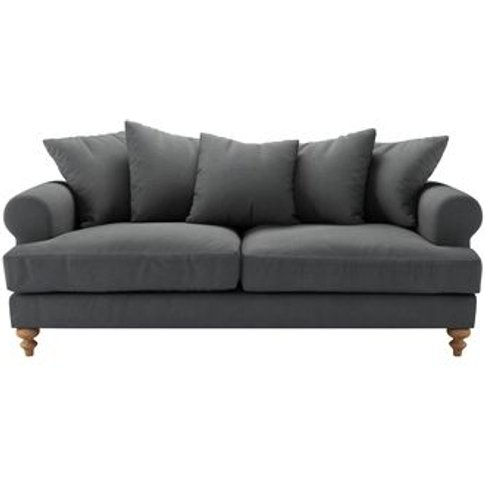 Teddy 3 Seat Sofa In Monsoon Brushed Linen Cotton