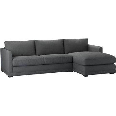 Aissa Medium Rhf Chaise Storage Sofa In Monsoon Brus...