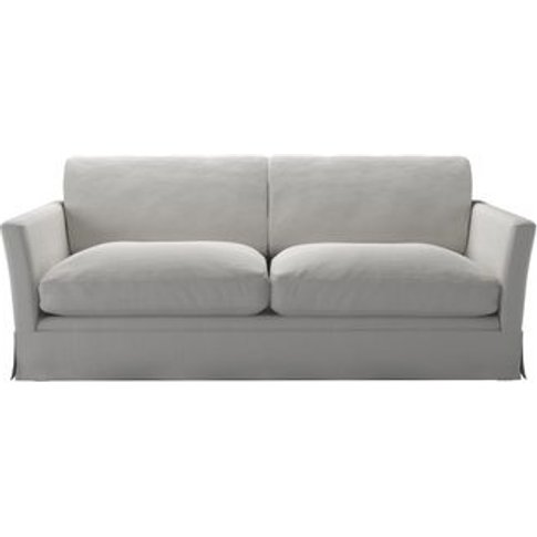 Otto 3 Seat Sofa Bed In Alabaster Brushed Linen Cotton