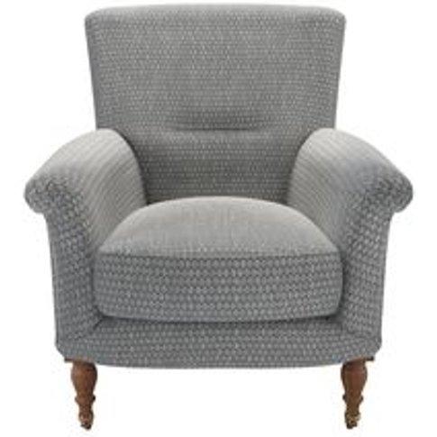 Alderney Armchair In Iron Diamond Viscose Cotton