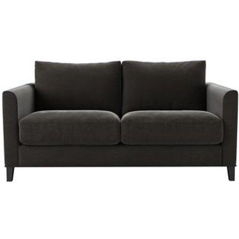 Izzy 2 Seat Sofa (Breaks Down) In Battleship Grey Smart Cotton