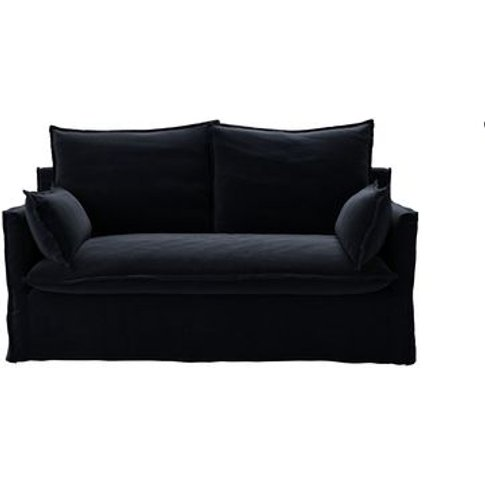 Isaac 2 Seat Sofa In Pitch Smart Cotton