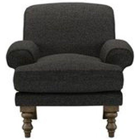 Saturday Armchair In Slate Highland Tweed