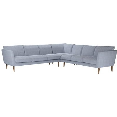 Holly Large Corner Sofa In Uniform House Herringbone...