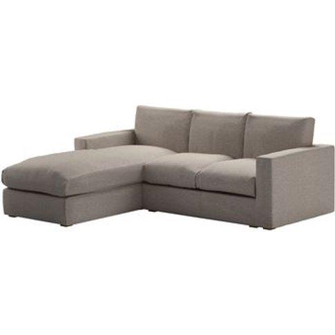 Stella Medium Lhf Chaise Sofa In Stag Dappled Viscos...