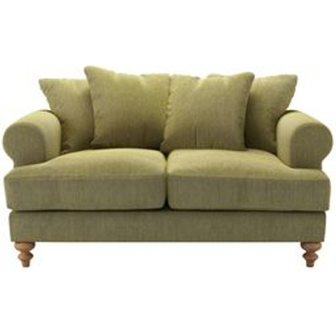 Teddy 2 Seat Sofa In Chartreuse Chenille