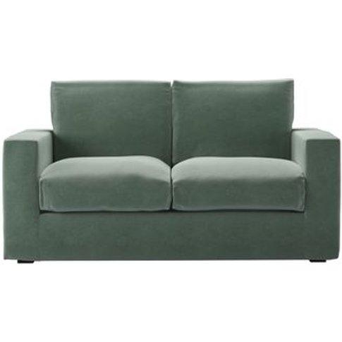 Stella 2 Seat Sofa (Breaks Down) In Sage Smart Velvet