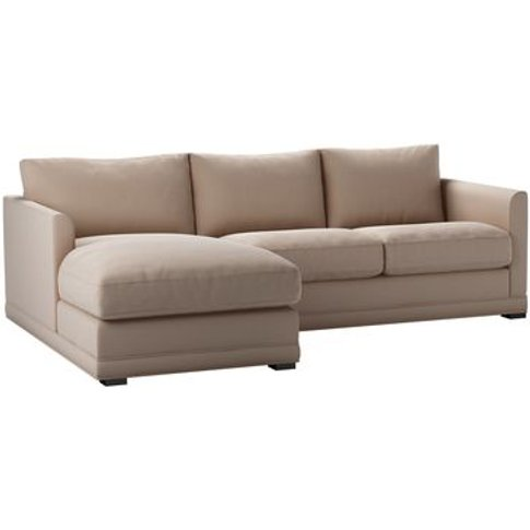 Aissa Small Lhf Chaise Sofa In Mouse Smart Cotton