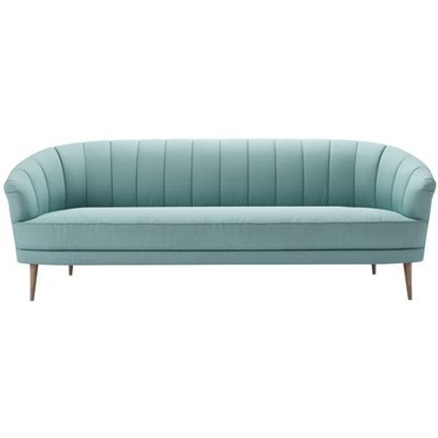 Harper 3 Seat Sofa In Eucalyptus Smart Cotton