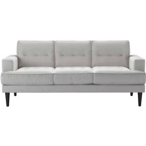 Mabel 3 Seat Sofa In Alabaster Brushed Linen Cotton
