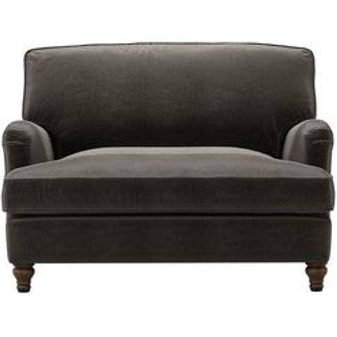 Bluebell Loveseat Sofabed In Elephant Cotton Matt Ve...