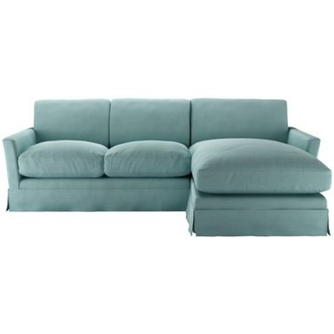 Otto Medium Rhf Chaise Sofa In Eucalyptus Smart Cotton