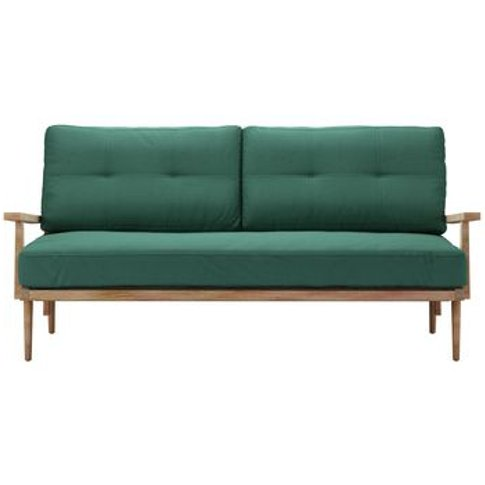 Hendrik 3 Seat Sofa In Kale Smart Linen