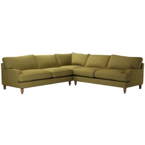 Isla Large Corner Sofa In Mossymere Norfolk Cotton