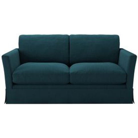 Otto 2 Seat Sofa In Evergreen Brushed Linen Cotton