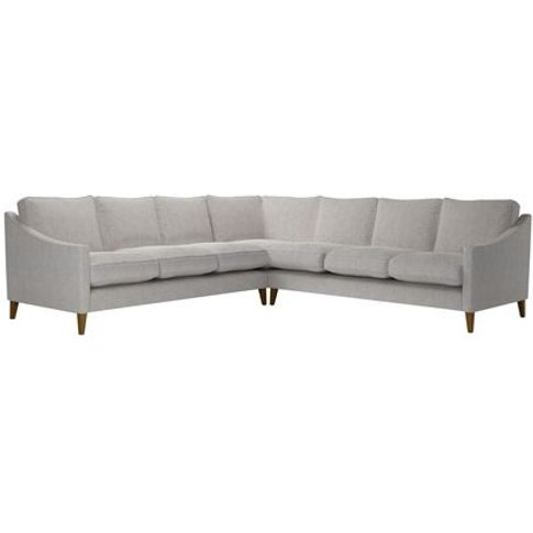 Iggy Large Corner Sofa In Rye Baylee Viscose Linen
