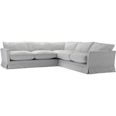 Otto Medium Corner Sofa In Hedgehog Dappled Viscose ...