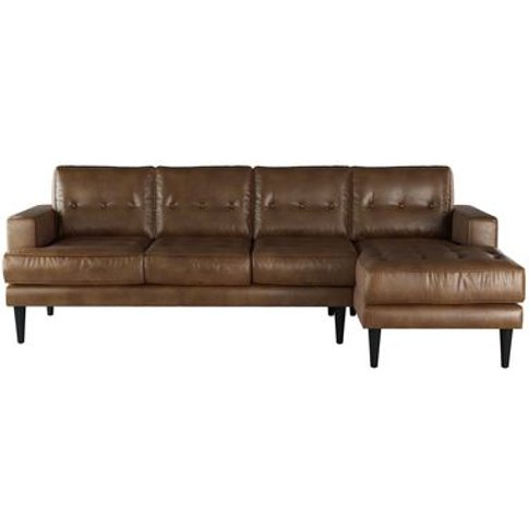 Mabel Large Rhf Chaise Sofa In Mocha Bellwether Leather