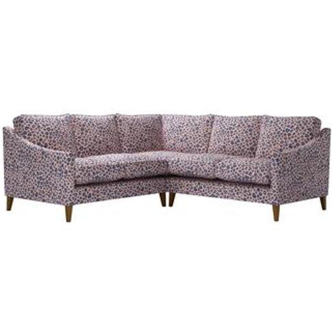 Iggy Small Corner Sofa In Pink Elephant Jungle Cat