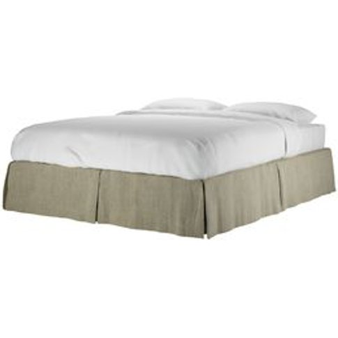 Marseille King Bed Valance In Cashmere Chenille