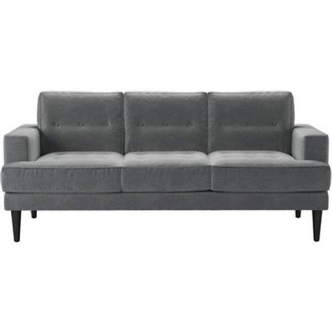 Mabel 3 Seat Sofa In Thatch Smart Velvet
