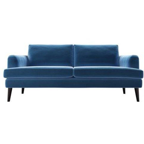 Reuben 3 Seat Sofa In Bahama Cotton Matt Velvet