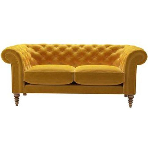 Oscar 2.5 Seat Sofa In Butterscotch Cotton Matt Velvet