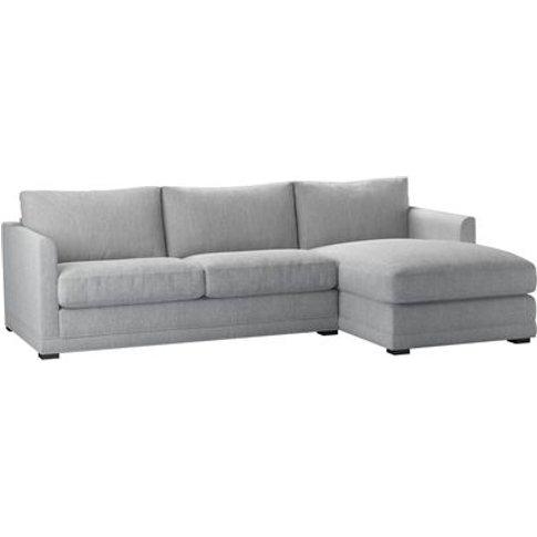 Aissa Medium Rhf Chaise Storage Sofa In Goodwin Grey...