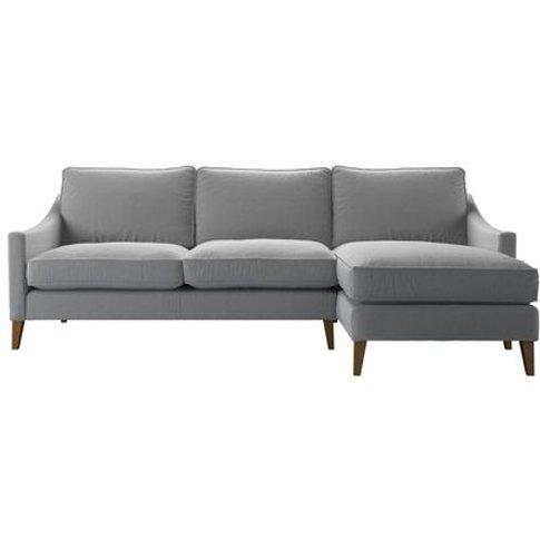 Iggy Medium Rhf Chaise Sofa In Pumice House Plain Weave