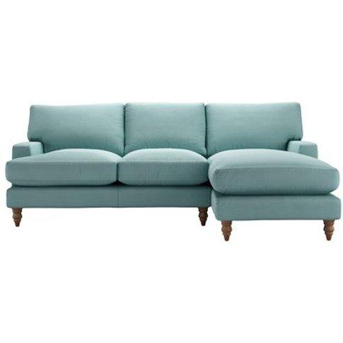 Isla Medium Rhf Chaise Sofa In Eucalyptus Smart Cotton