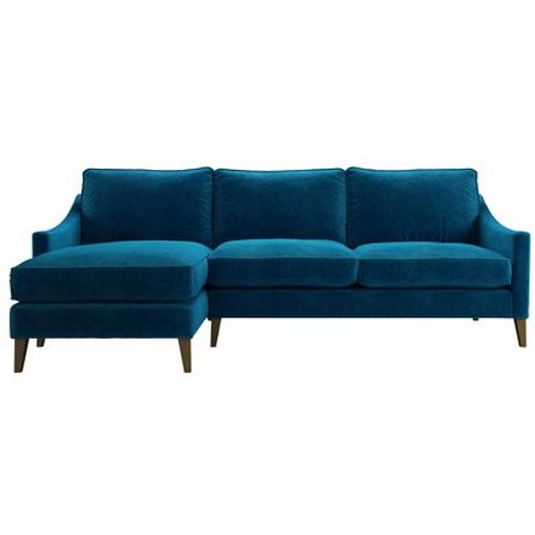 Iggy Medium Lhf Chaise Sofa In Scuba Smart Velvet