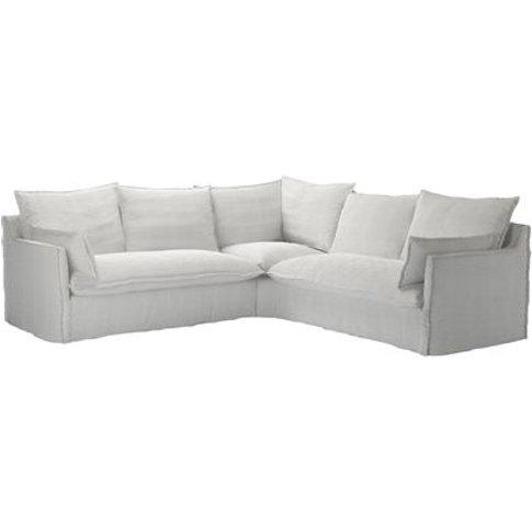 Isaac Medium Corner Sofa In Pumice House Basket Weave