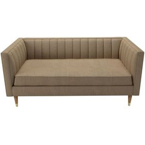 Ruby 2 Seat Sofa In Flax Pure Belgian Linen