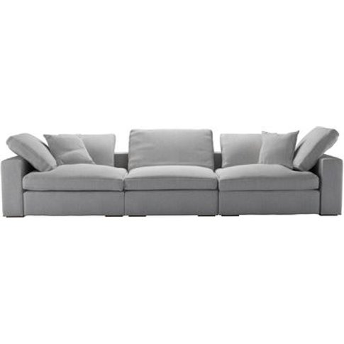 Long Island 3 Seat Sofa In Stepping Stone Dovedale