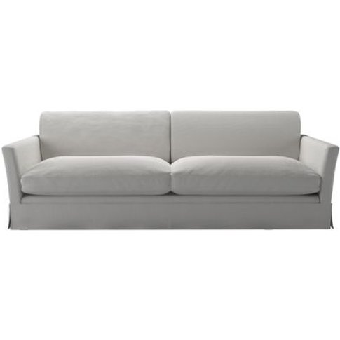 Otto 4 Seat Sofa In Alabaster Brushed Linen Cotton