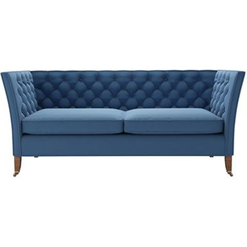 Descartes 2.5 Seat Sofa In Heather Blue Smart Cotton