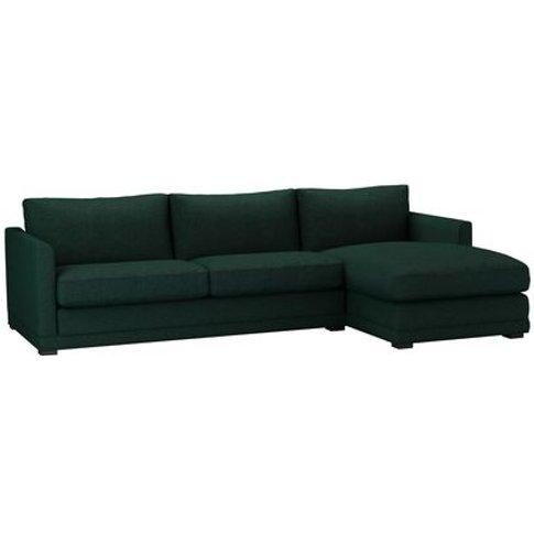 Aissa Large Rhf Chaise Storage Sofa In Cedar Soft Wool