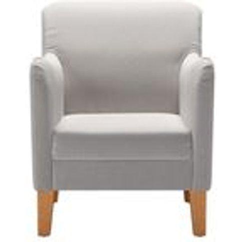 Lily Small Armchair In Dove Smart Velvet