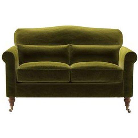 Dahlia 2 Seat Sofa In Olive Cotton Matt Velvet